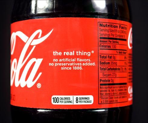 Coca-Cola reveals calories? – Food