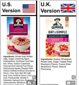 Ultraprocessed foods: US vs. UK